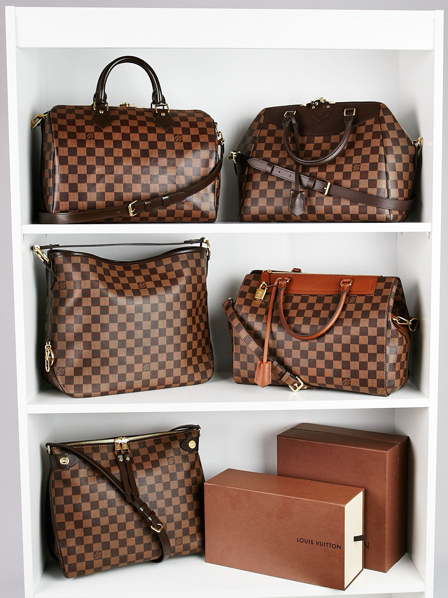 Who Doesn T Love A Closet Full Of Lv Damier We Certainly Do Yoogi S Closet Louis Vuitton Bag Bags Louis Vuitton