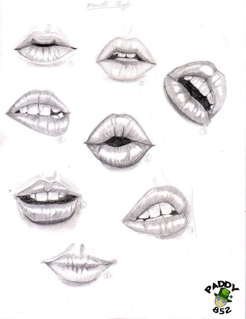 Different Types Of Lips You Can Draw | Dibujos de ojos ...