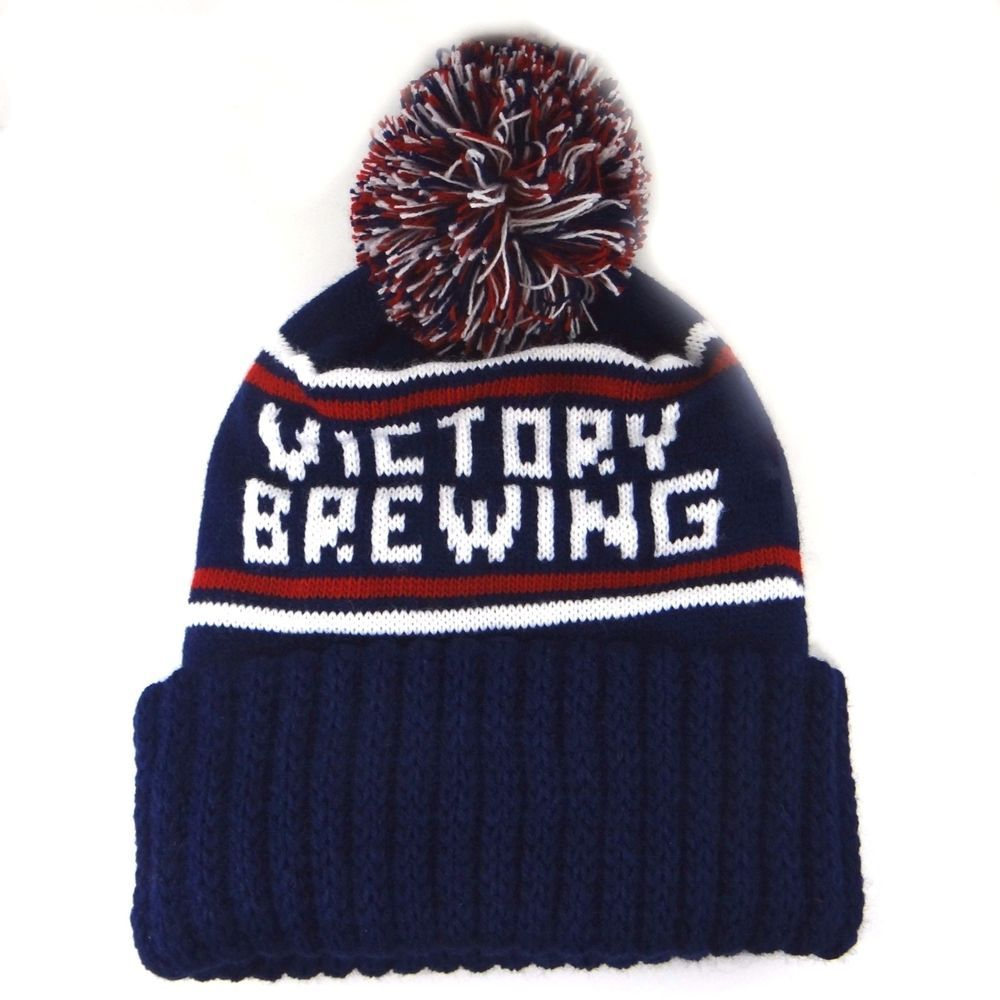 a4175ef30b0 Victory Brewing Beer Ski Hat Knit Beanie Toboggan Navy Blue Red White New   VictoryBrewing  SkullCap
