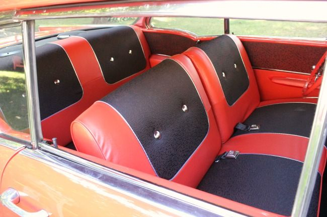 Brand New 57 Chevy Interior Red And Black 1957 Chevy Bel Air Chevy Bel Air Chevy