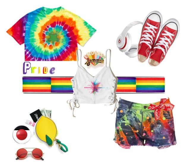 """""""pride"""" by jastil ❤ liked on Polyvore featuring ban.do, Beats by Dr. Dre, Hollister Co., Lazy Oaf, Converse, J.Crew, rag & bone, Givenchy, York Wallcoverings and Elizabeth Arden"""