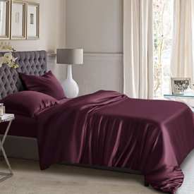 Grape Silk Bed Linen Premium Silk Duvet Cover Bed Linens