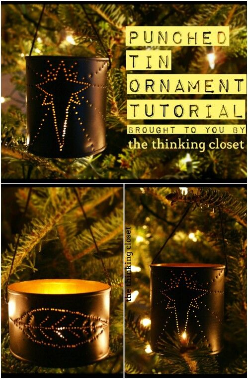 Tin Can Ornaments for Your Christmas Tree