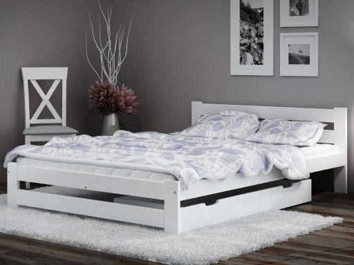 łóżko Sosnowe W Kolorze Białym Pasuje Idealnie Do Każdej