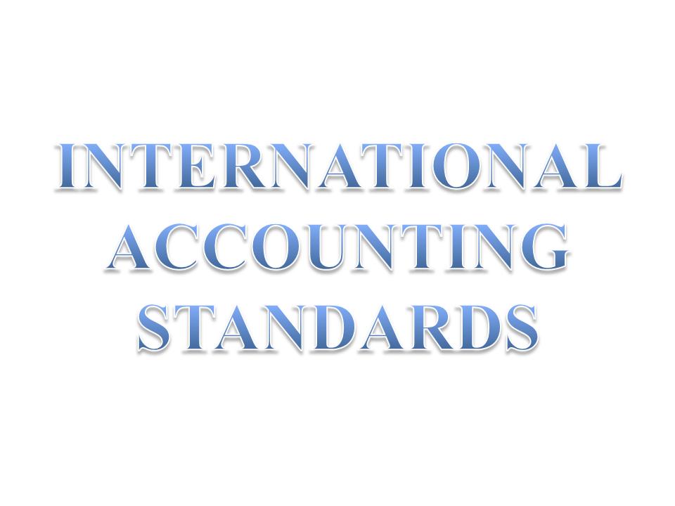 International Accounting Standards International Accounting Accounting Financial Management