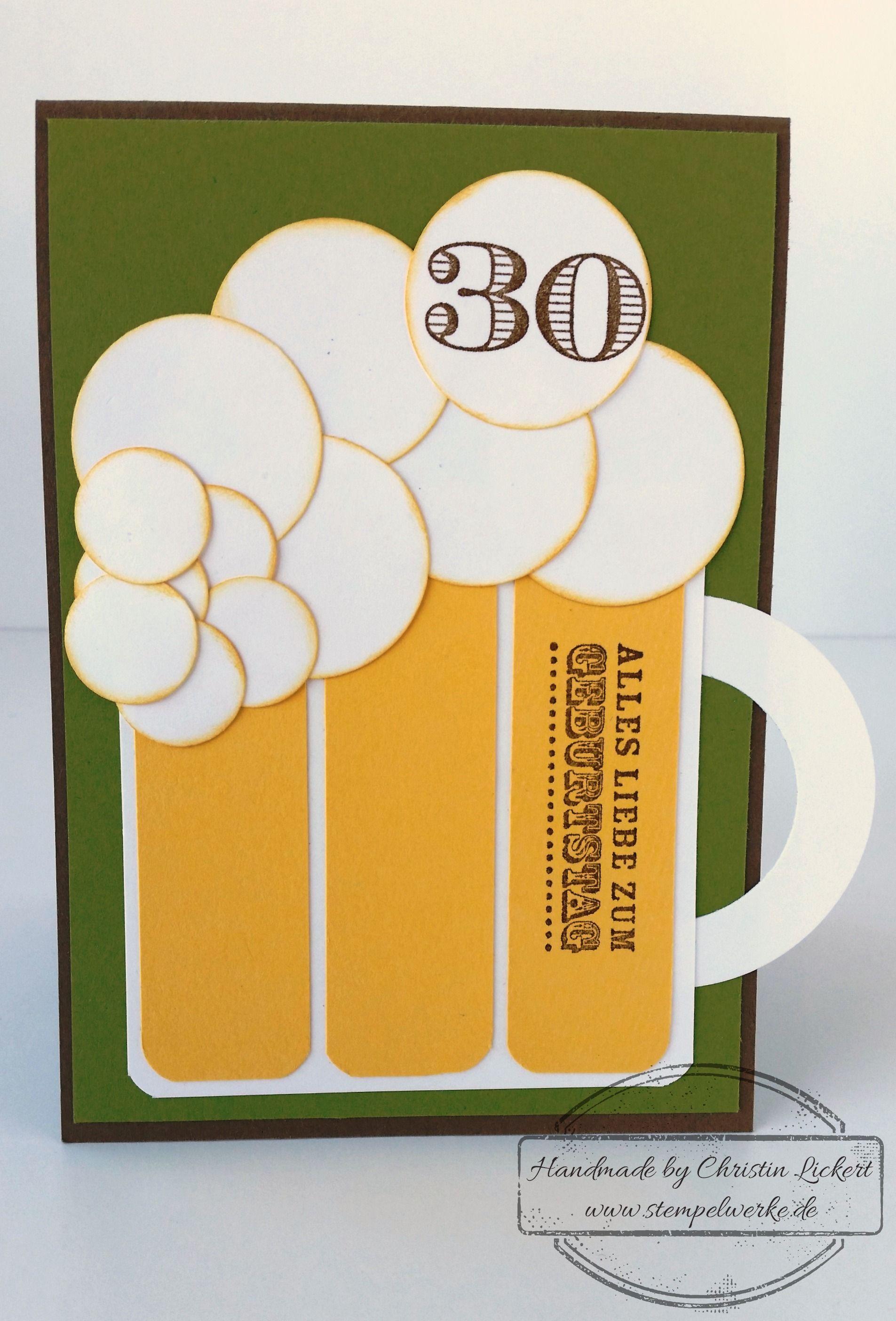Bierkarte Zum 30 Mannergeburtstag Stempelwerke Geburtstag