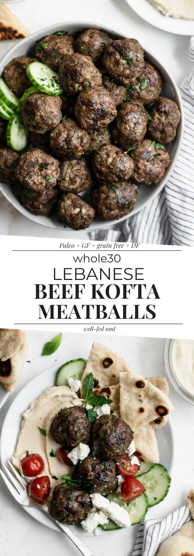 Lebanese Beef Kofta Meatballs With Tahini Recipe Beef