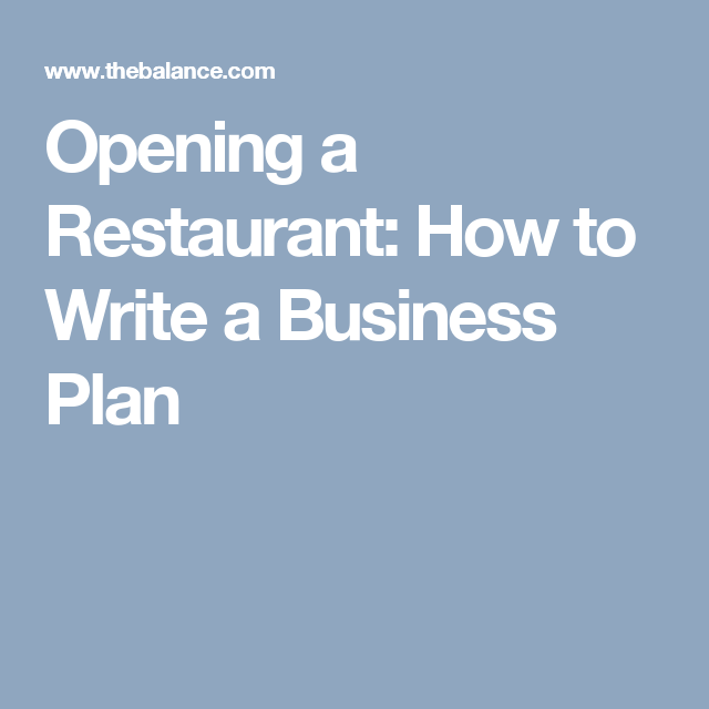 5 Things You Need In Your Restaurant Business Plan