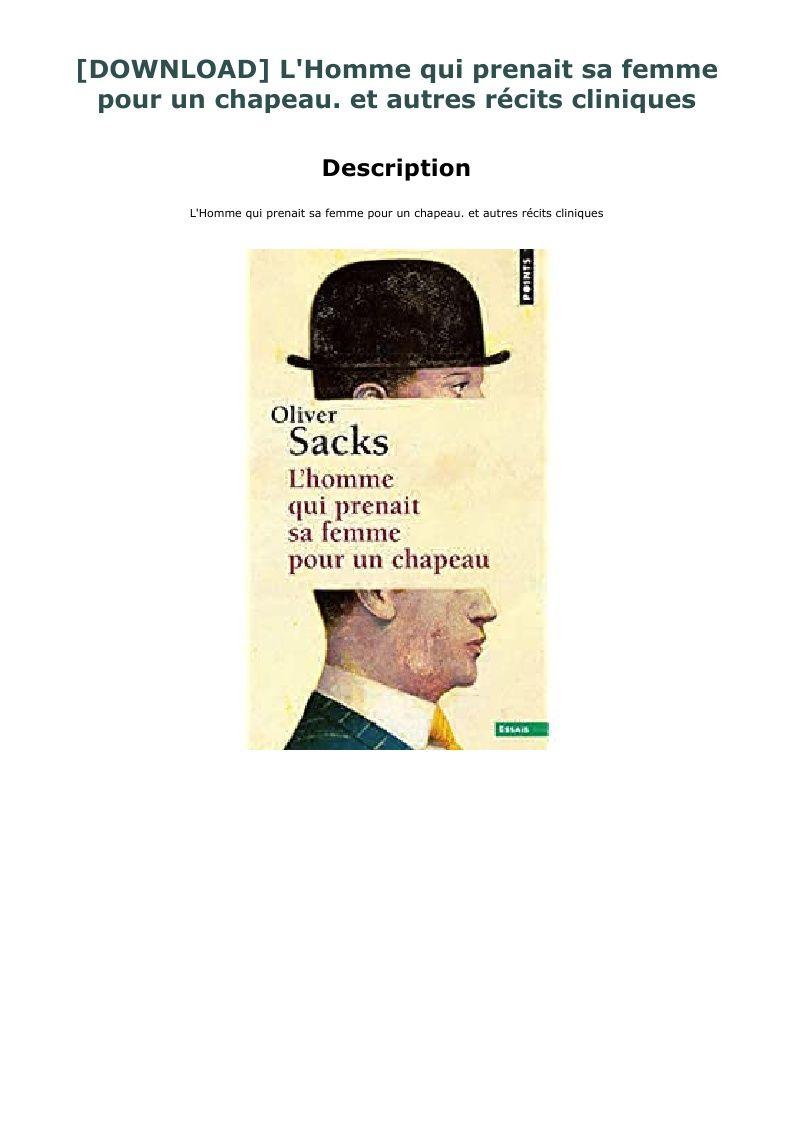 L'homme Qui Prenait Sa Femme Pour Un Chapeau : l'homme, prenait, femme, chapeau, @Download~#Free$~Pdf@