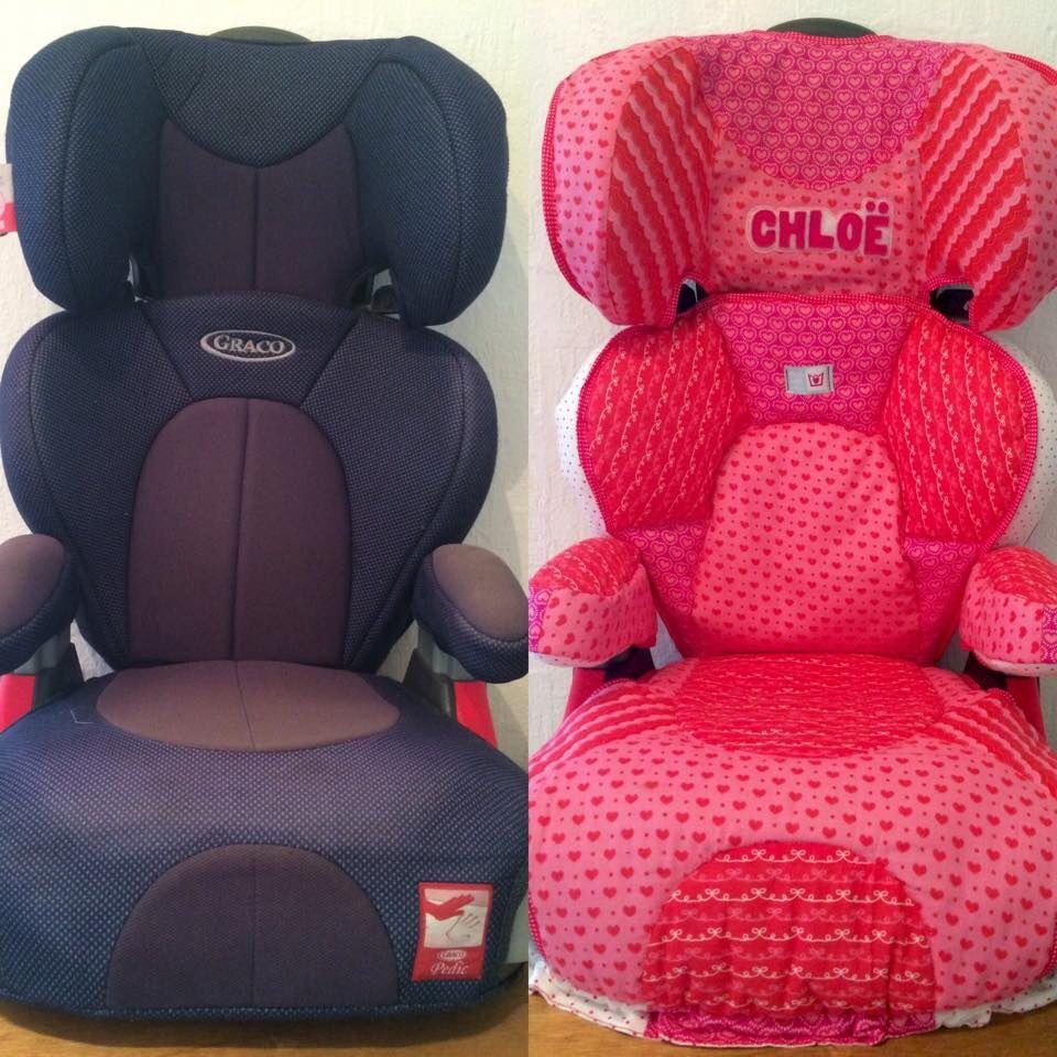 Antes y Despues // Haciendo la cubierta de la silla del auto para Chloë...