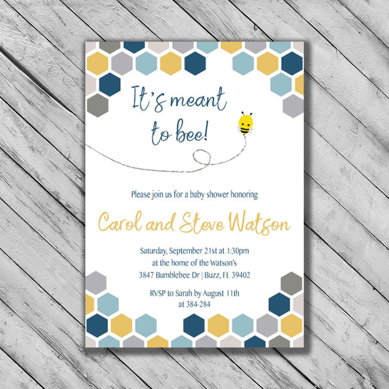 Bee Baby Shower Invitations - Gender Neutral Baby Shower Invites ...