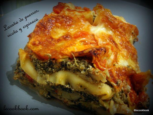Lasaña de puerros, ricota y espinaca | Le Cookbook