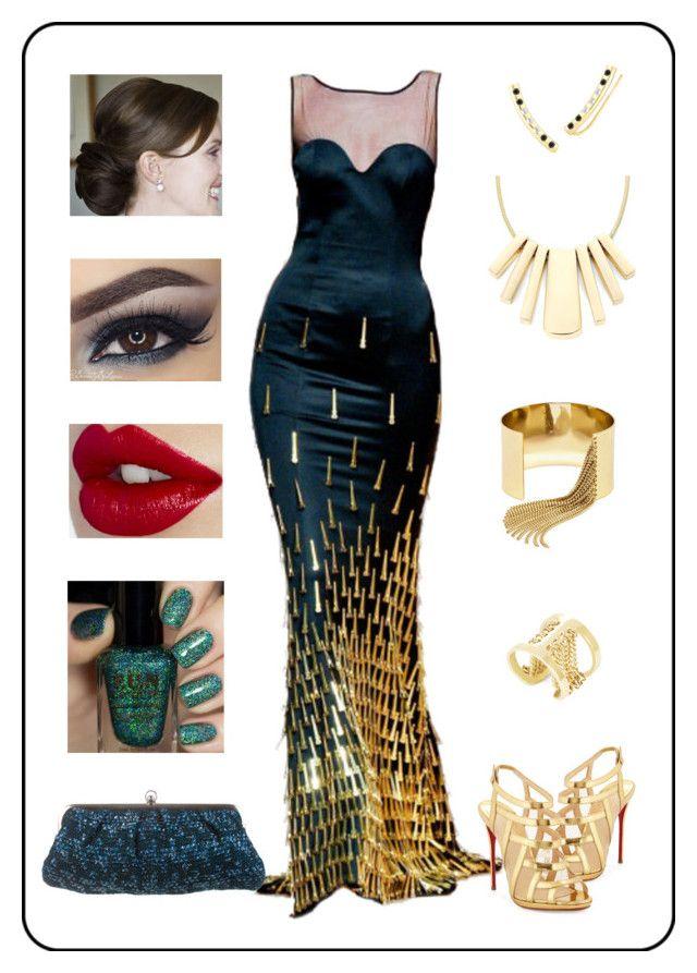 """Dress..."" by binasa87 ❤ liked on Polyvore featuring Frankie Morello, Christian Louboutin, Liz Claiborne, BaubleBar, Elizabeth and James, BCBGMAXAZRIA and Marni"