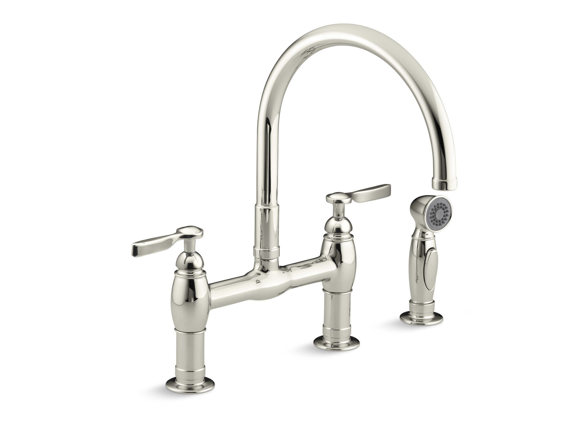 Parq Pull Down Touch Bridge Faucet With Side Spray And Masterclean