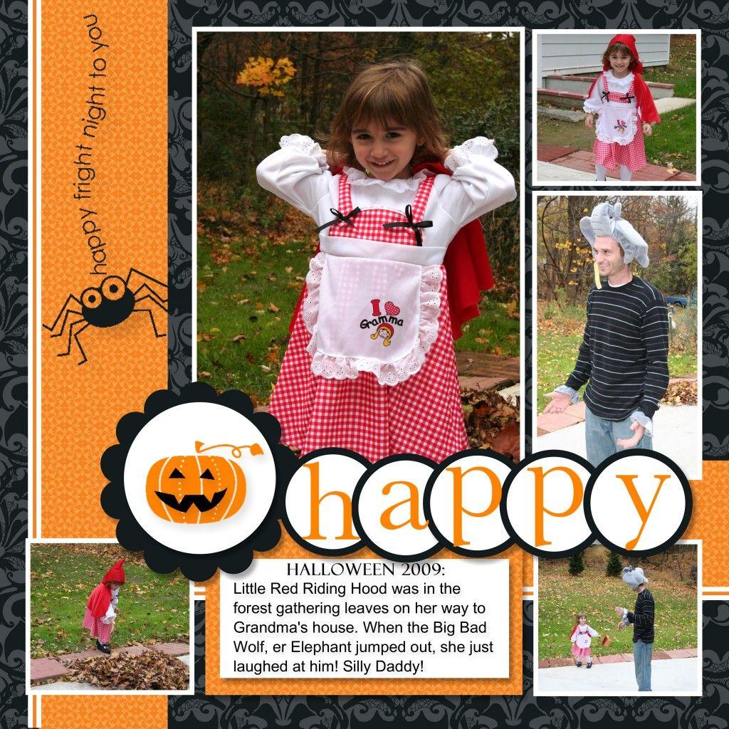 Scrapbook ideas grandma - Cute Halloween Layout