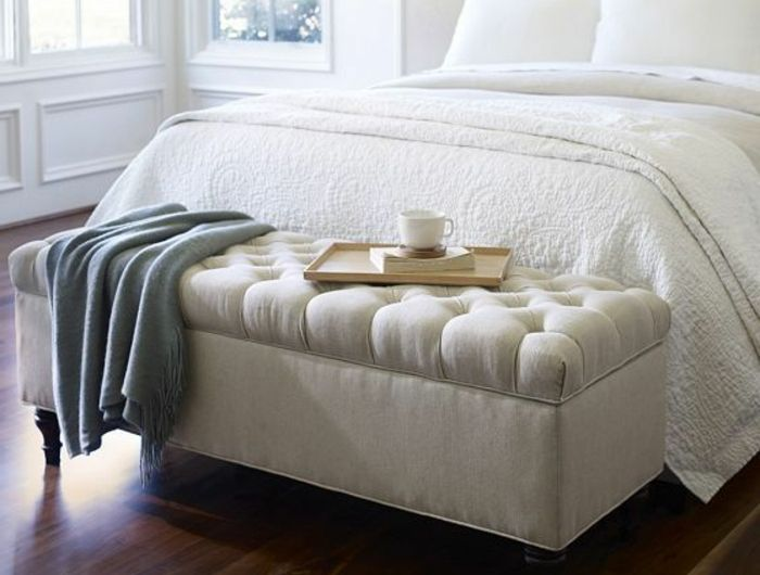 banquette bout de lit lit coffre