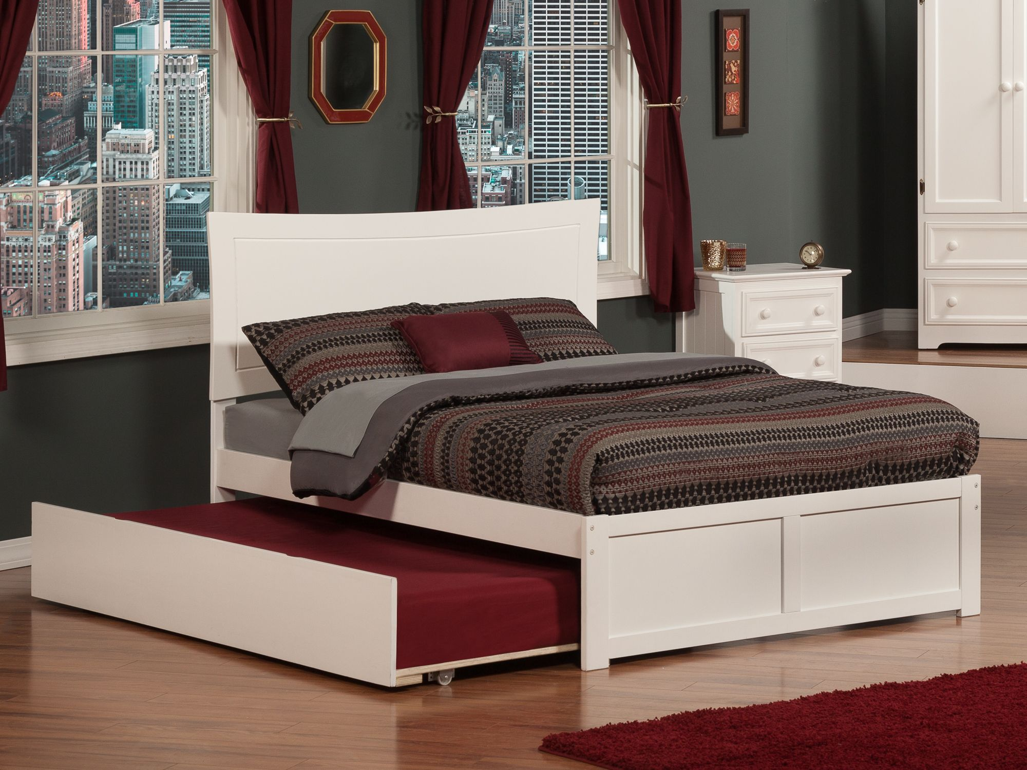 Add extra sleeping space to your bedroom with class through the