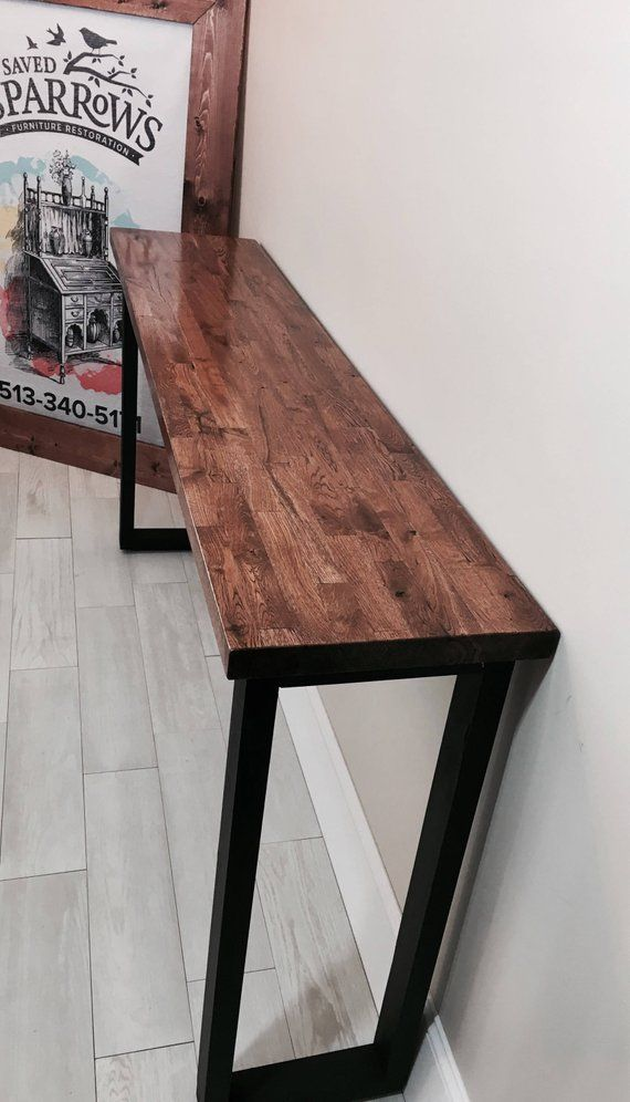 Reclaimed Butcher Block Extra Long And Tall Entry Sofa Table
