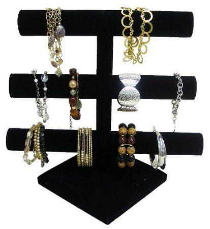 Triple Tier Jewelry Bracelet Organizer Display Stand This 3