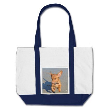#Catch Me If You Can Tote Bag - #dachshund #puppy #dachshunds #dog #dogs #pet #pets #cute