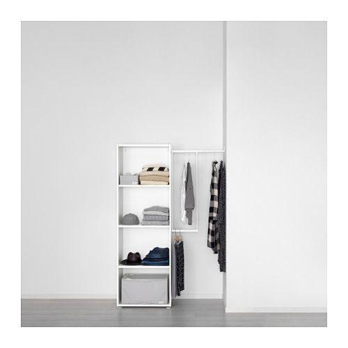 PLATSA Armoire-penderie, blanc, Fonnes blanc Bedrooms - armoire ikea porte coulissante