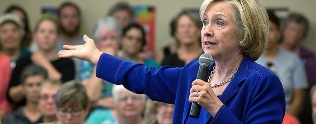 Hillary Clinton confronted over trust issues in TV interview. (Getty Images)