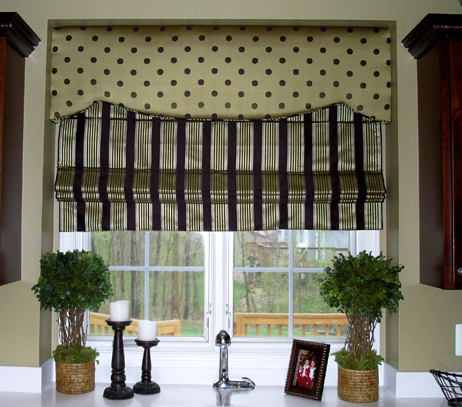 Kitchen Window Wood Valance Ideas: Cornice Board So Glad I Found This Combo Of Stripes And