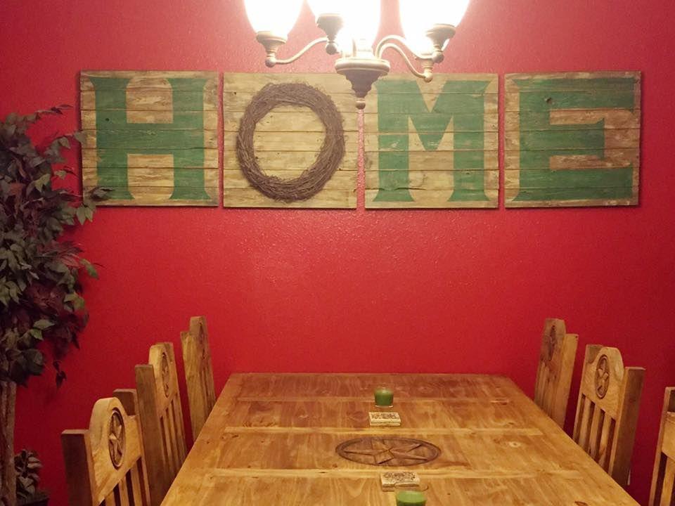 Pallet Home Sign