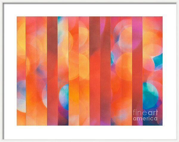 Stripes Framed Print featuring the mixed media Dazzler by Jan Bickerton. #modern_art