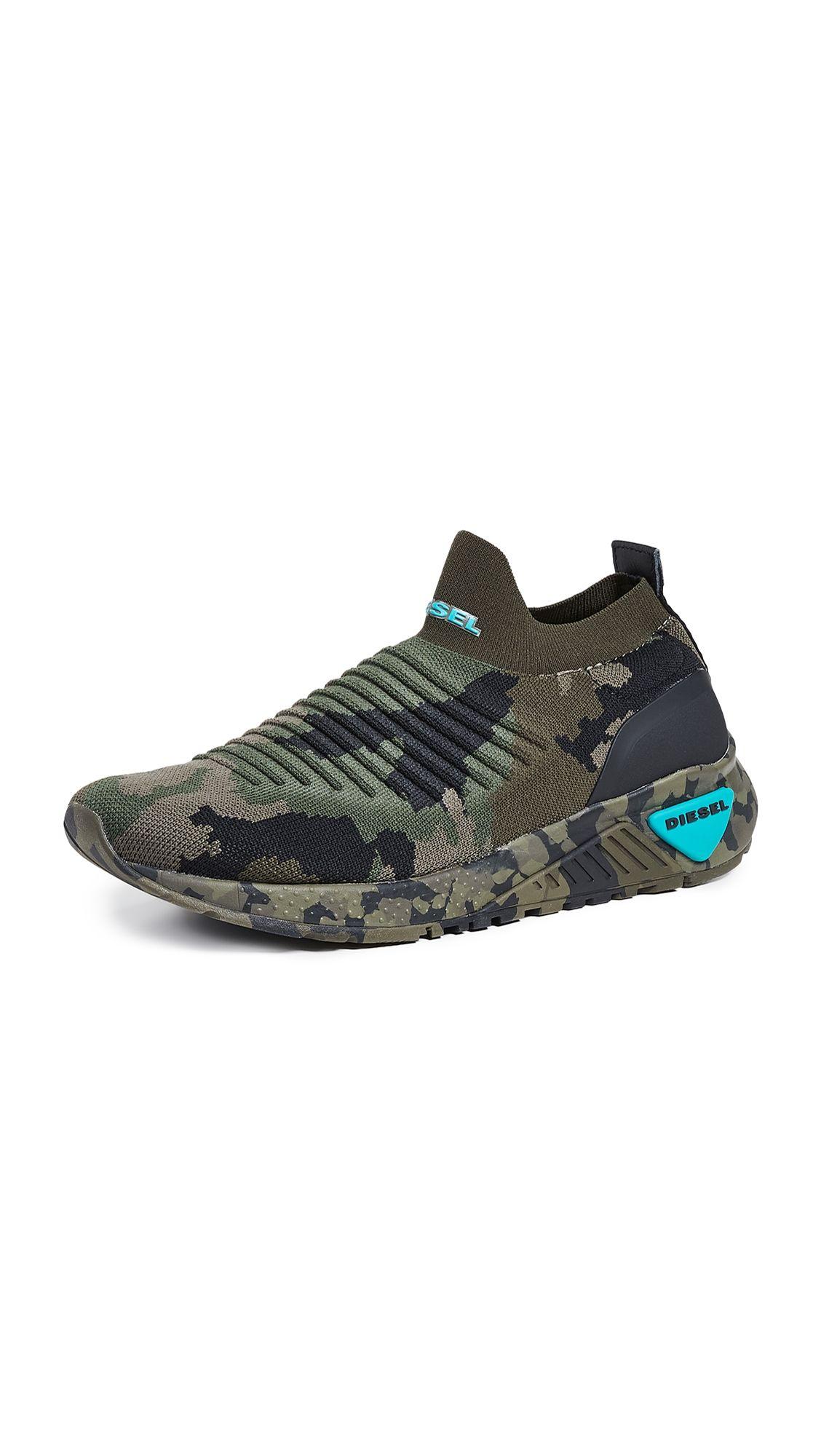 DIESEL SK B CAMO SOCK SNEAKERS. #diesel #shoes   Diesel in