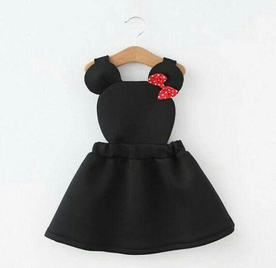 Niedliches Kleid Minnie Mouse in Schwarz mit roter Schleife ...  #kleid #minnie #mouse #niedliches #roter #schleife #schwarz #minniemouse