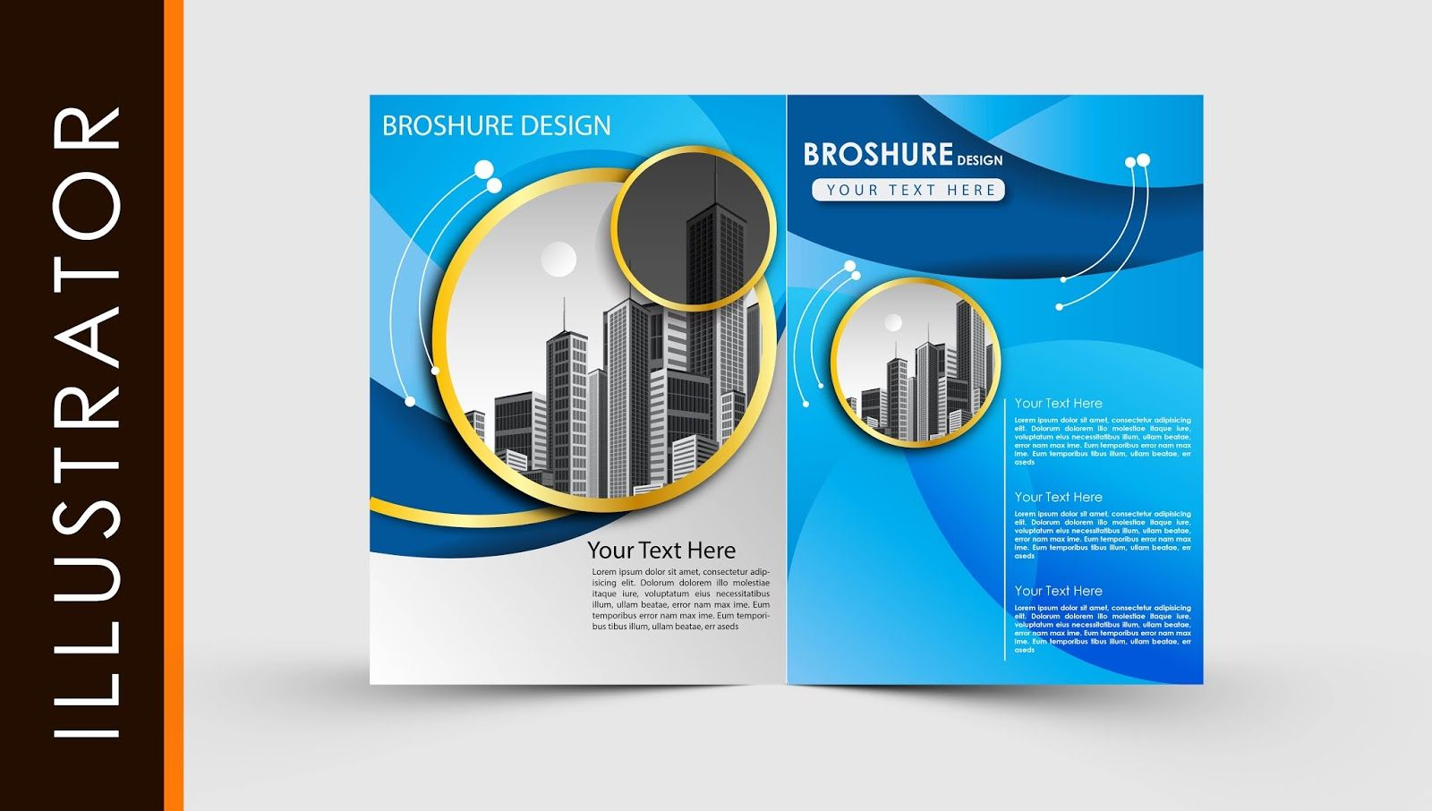 The Exciting Free Download Adobe Illustrator Template Brochure Two Fold Within Brochure Te Free Brochure Template Brochure Template Adobe Illustrator Templates