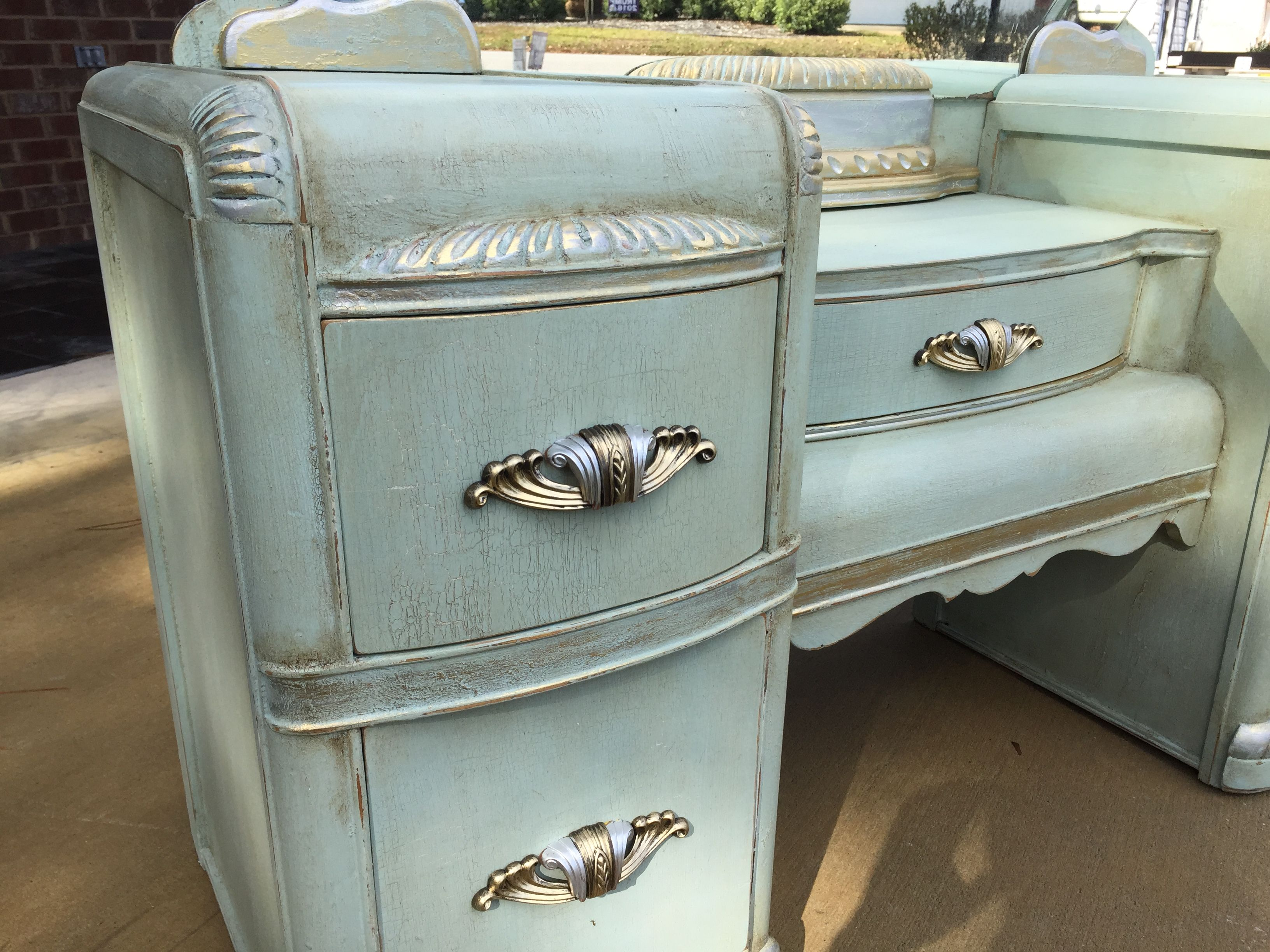 1930's Waterfall Vanity. (With images) Waterfall