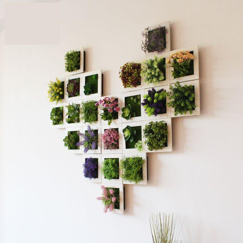 3d Plant Wall Sticker Home Decor Wall Artificial Flowers Frame
