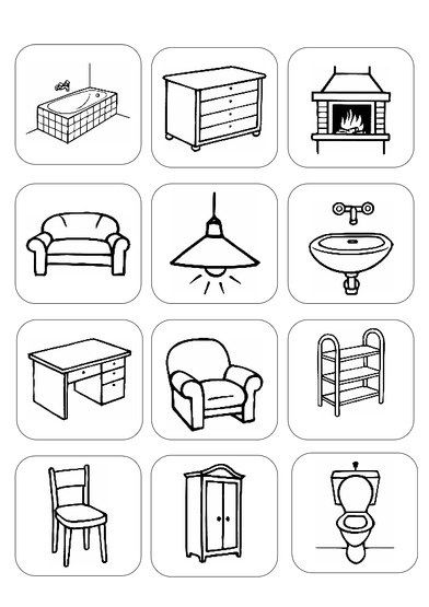 bildersammlung zu m bel und einrichtung aphasie dyslalie daz sprachf rderung pinterest. Black Bedroom Furniture Sets. Home Design Ideas