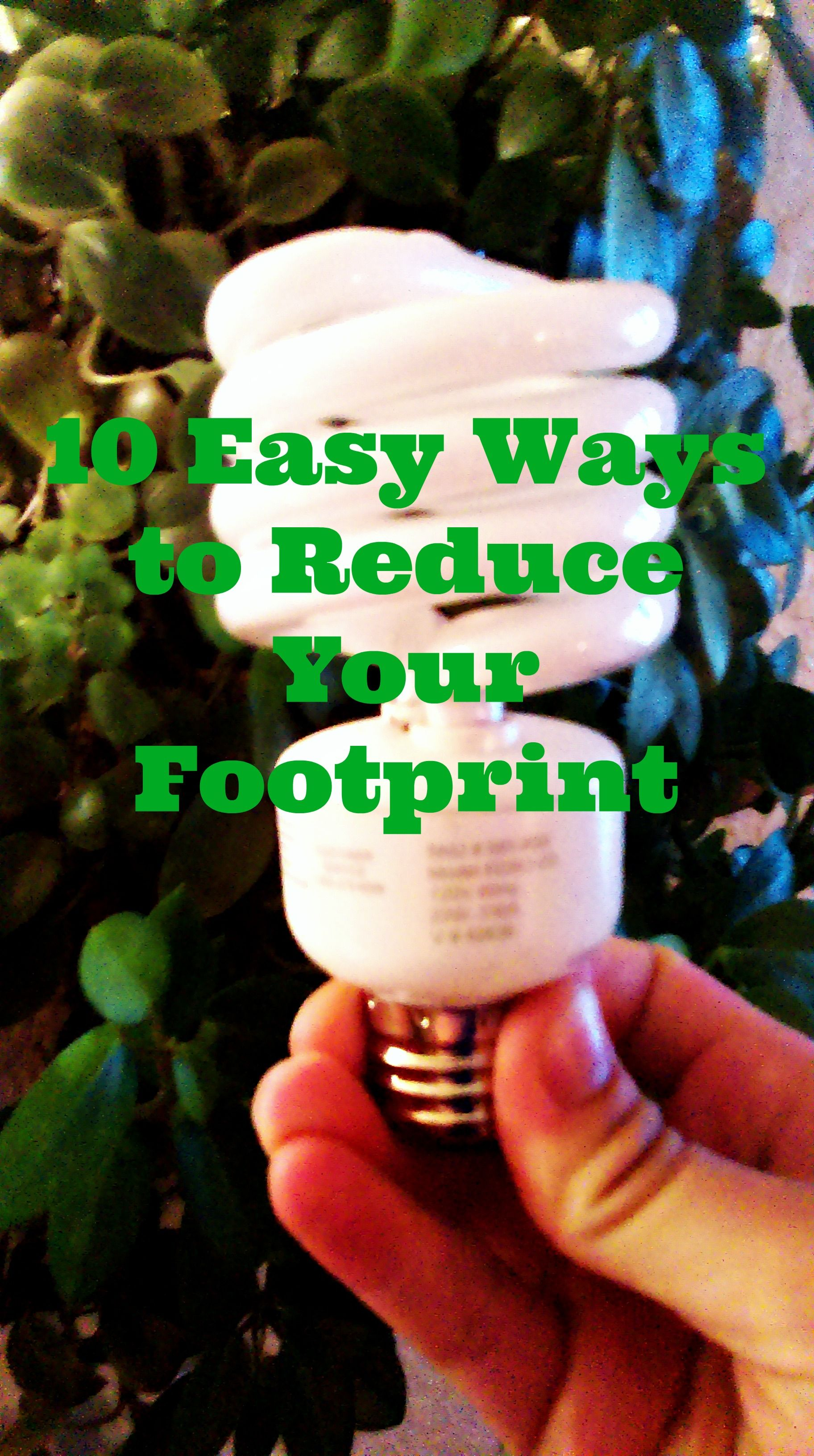 10 Easy Ways To Reduce Your Footprint On The Earth Go Green