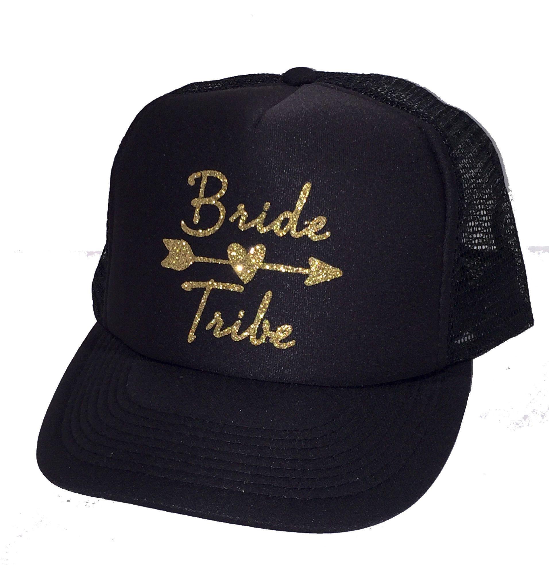 fcc108fa80f5 Bride Tribe Glitter Trucker Hat en 2019 | accesorios arriba | Gorras ...