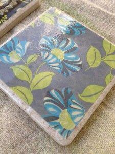 Diy christmas crafts handmade gifts-tile coasters