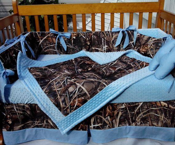 Baby Blue Crib Bedding, Camo And Blue Baby Bedding