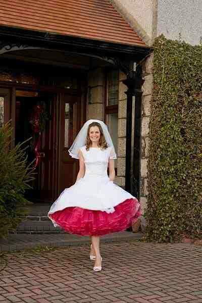 Short Wedding Dress Red Petticoat Trouwjurk Bruidsmode Bruidsjurk