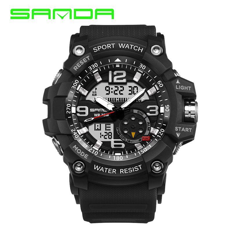 b6f7ef973cd SANDA 759 Military LED Digital Watch Men Top Brand Luxury Famous Sport  Watch Male Clock Electronic