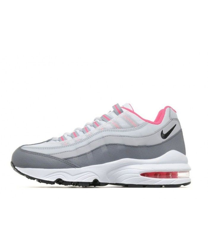 cheap for discount 19eb5 e8e16 Nike Air Max 95 Junior Pink White Grey Trainers | air max 95 ...