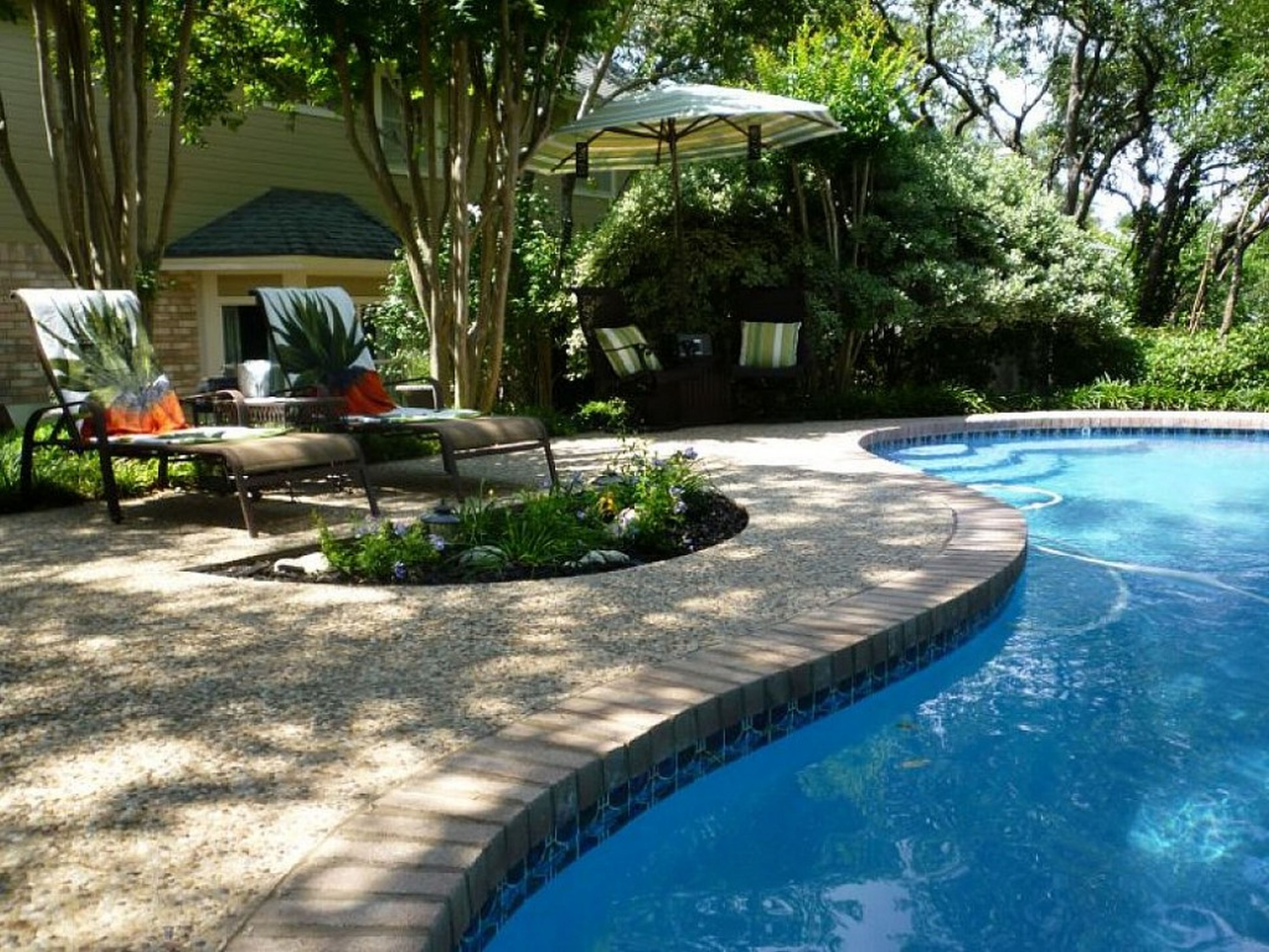 Outdoor design terrific backyard landscaping ideas with Great pool design ideas