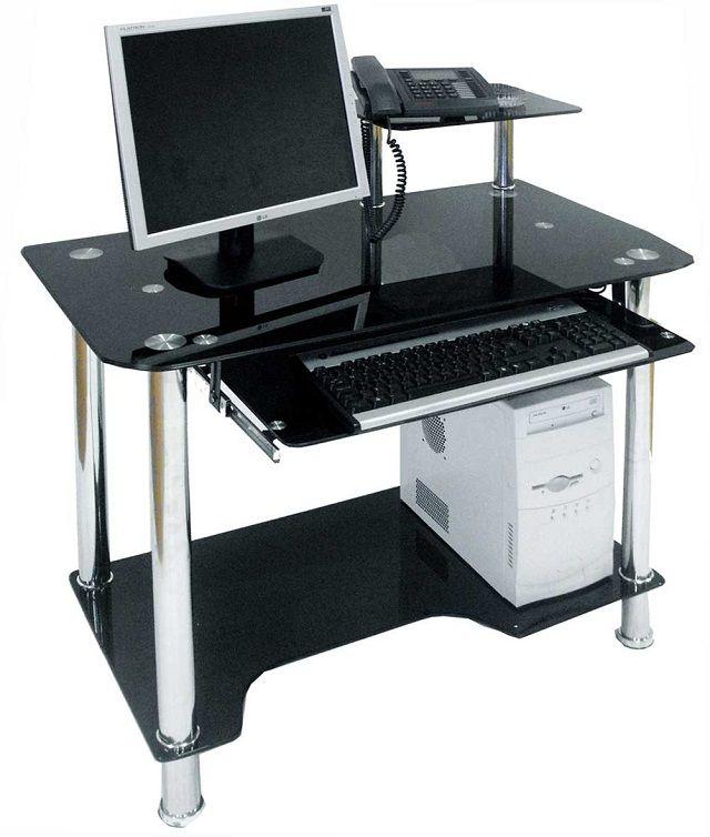 innovative dark glass modern computer desk | Modern Computers ...