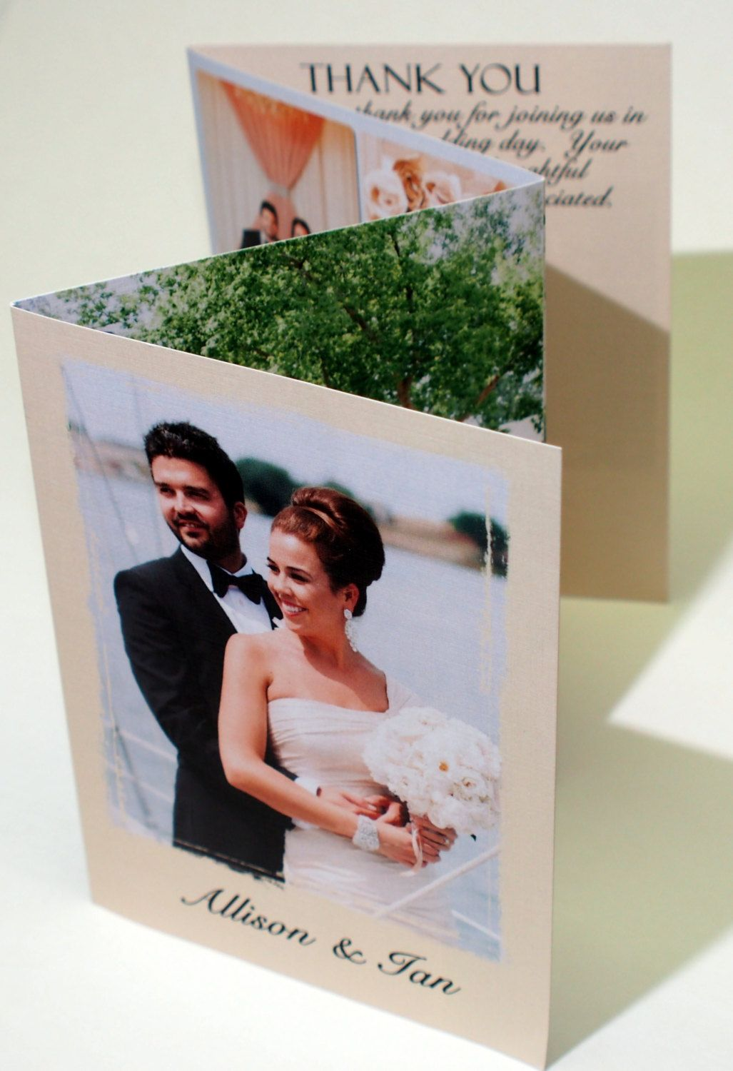 Accordion Fold Wedding Thank You Card 109 3 50 Via Etsy