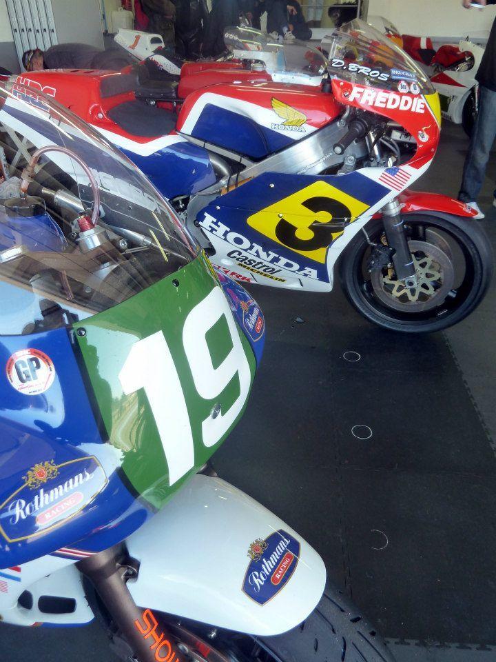 Motos de course anciennesLe Castellet 2013 Honda
