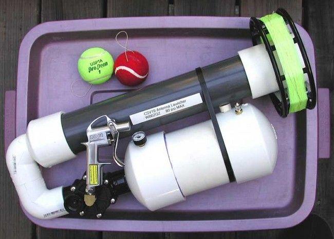 Spud Gunning Made Useful Pneumatic Antenna Launchers Air Cannon Antenna Ham Radio Antenna