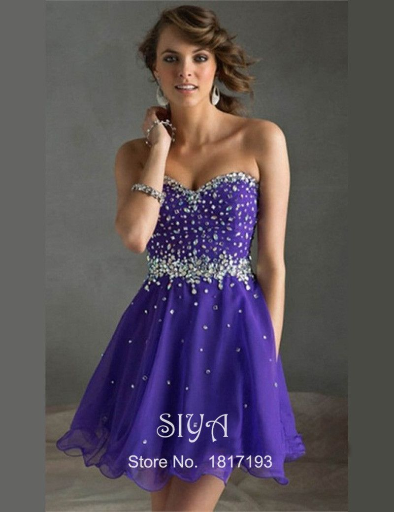 Purple cocktail prom dresses wedding dress pinterest sexy purple cocktail prom dresses ombrellifo Choice Image