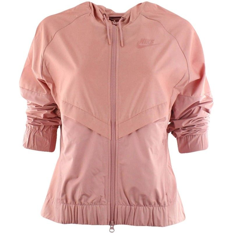 71584f8828e I never really liked pink until I saw it on this jacket. Oooo I think I'm  in love. #Nike #Womens #NSW #Windrunner #Jacket #Chambray