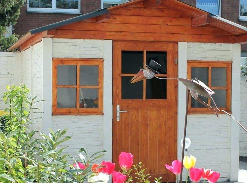 Gartenhaus Rot Weiss Streichen Outdoor, Shed